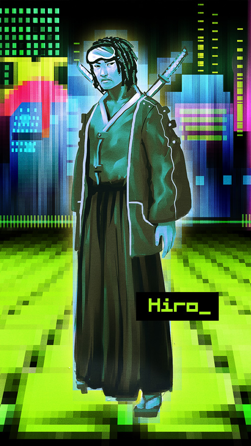 Snow Crash: Hiro Protagonist by cryoclaire