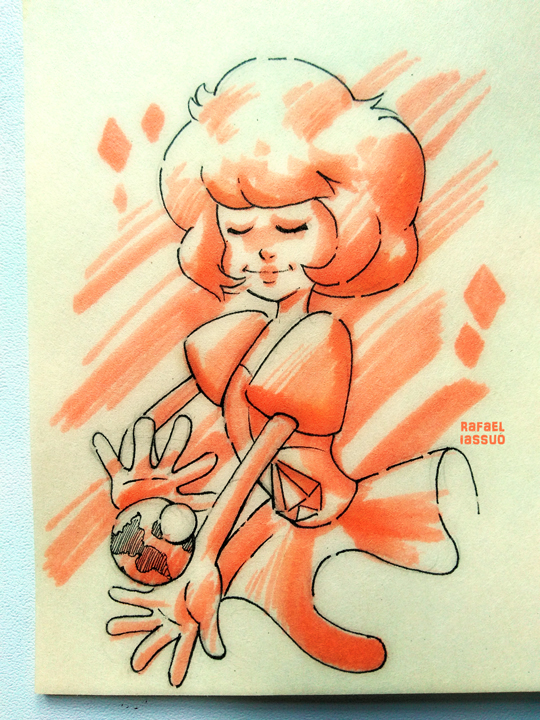 Traditional Art - made with marker Fan Art - Steven Universe