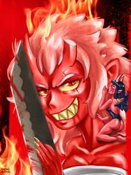 Red Oni Girl by iassu