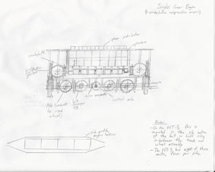 Technical Diagram: Ryland Single-Gear Steam Engine