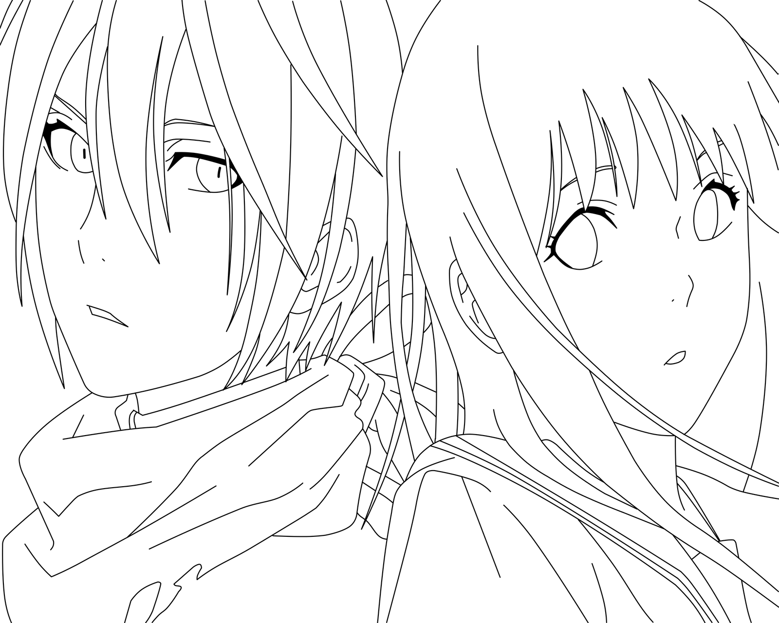 Line Drawing Name : Noragami hiyori drawing related keywords