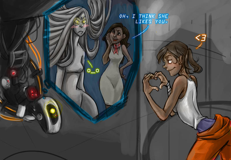 Wheatley fucks the out of chell from portal 2 - 2 6