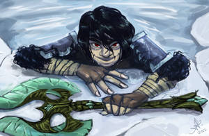 Skyrim: Creeper in icy water