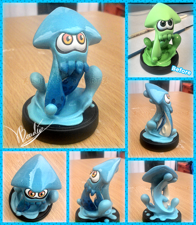 Squid Amiibo Repaint by Luifex