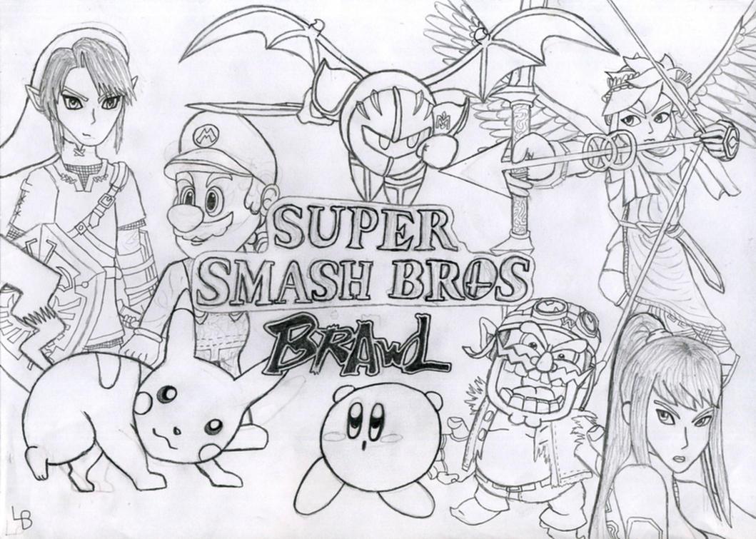 Super Smash Bros Brawl By Luifex On Deviantart Rh Com Mario Coloring Pages