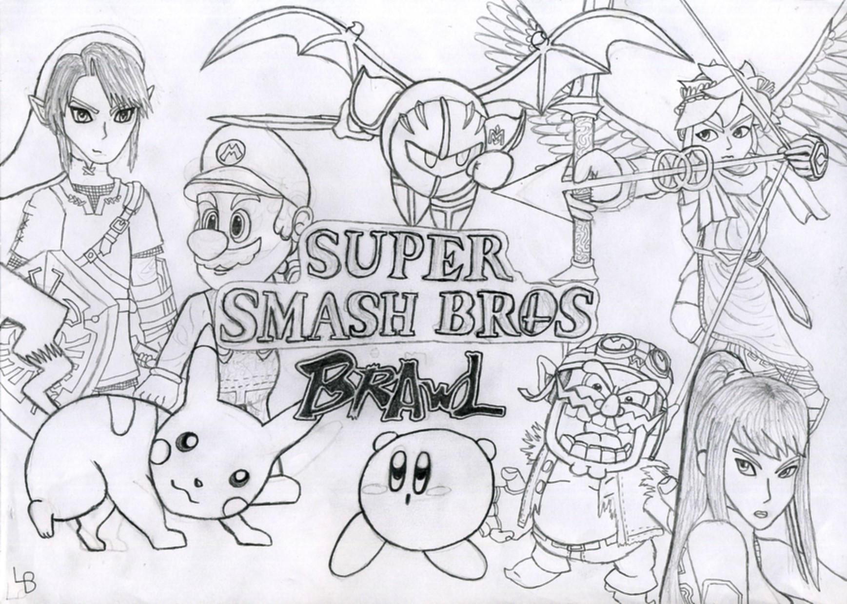 Uncategorized Super Smash Bros Brawl Coloring Pages super smash brothers brawl coloring pages murderthestout bros colouring thestout