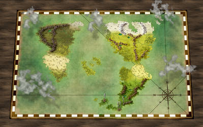 World Map by RecklessEnthusiasm