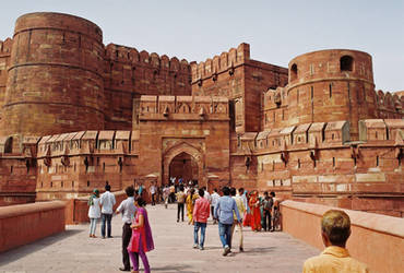 Red Fort Agra (Film Kodak 100 asa)