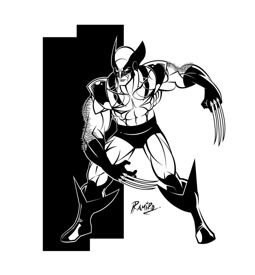 Wolverine (4a) Inks in Illustrator CS6 by Montotus