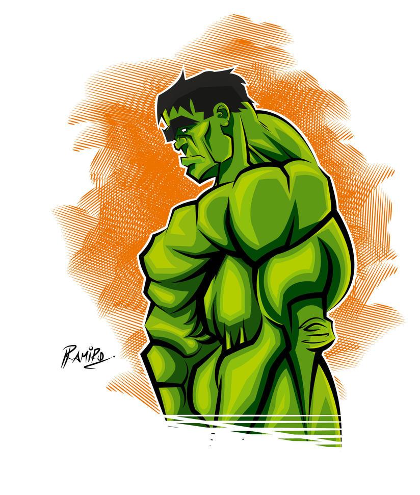 Hulk in Illustrator CS6 + Colors! by Montotus