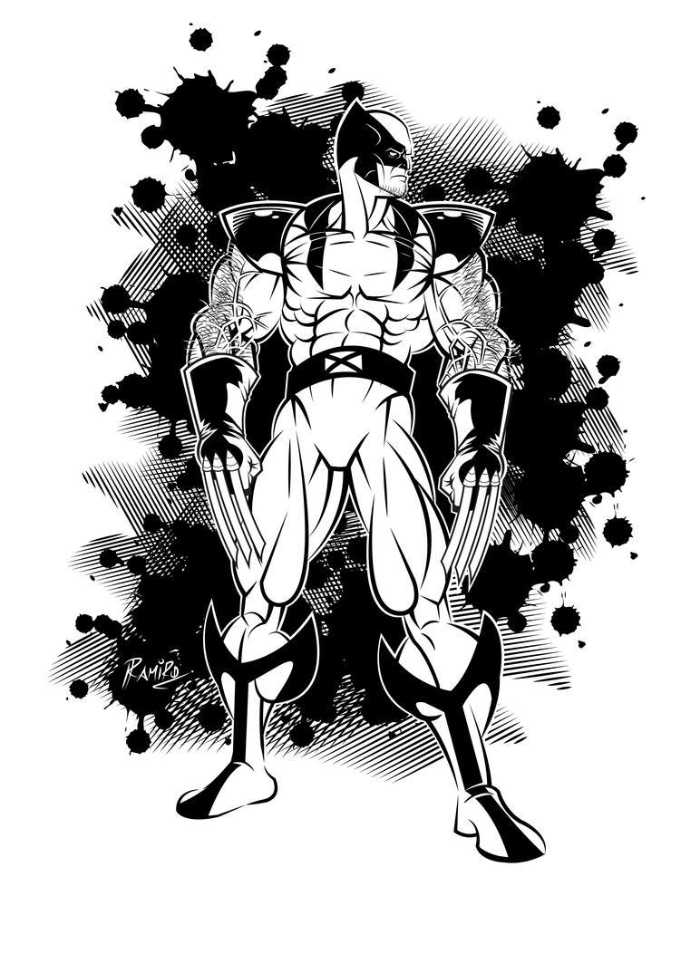 Wolverine (5) Inks in Illustrator CS6 by Montotus