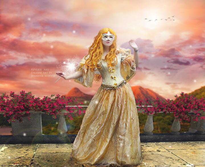 Entering the sunset Ball by Reverie-digitalart