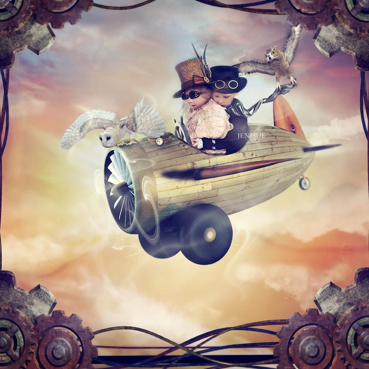 Steampunk Adventure by Reverie-digitalart