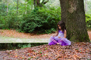 Ella in leaves by Jeni-Sue