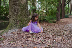 Ella in leaves 2 by Jeni-Sue