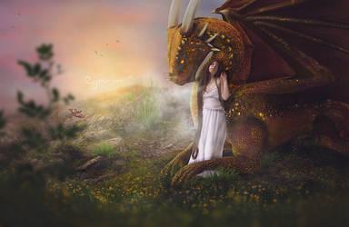 Golden Dragon by Jeni-Sue