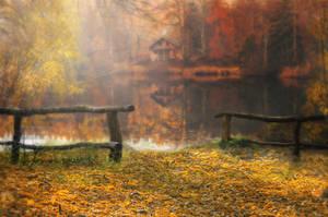 Fall Cabin by Jeni-Sue