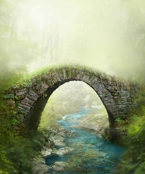 Stone bridge background