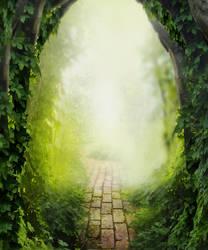 Garden Path Background