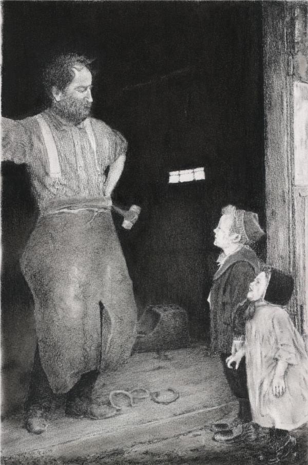 The Blacksmith's Visit by CFStudios