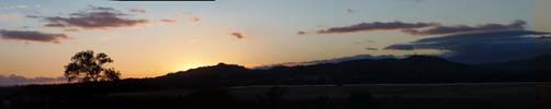 San Gabriels at sunset by CFStudios