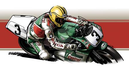 Joey Dunlop Castrol Honda