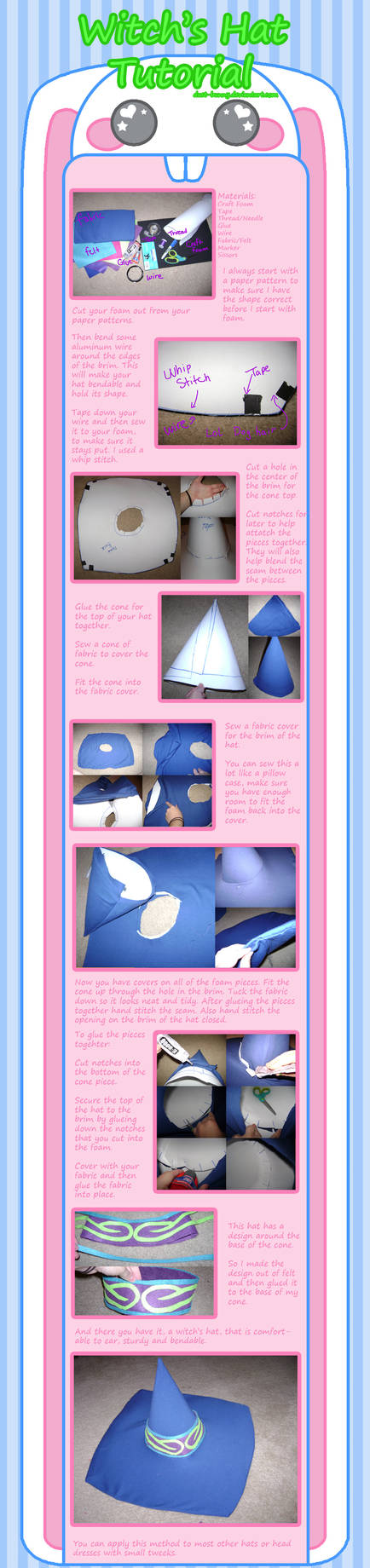 Witch's Hat Tutorial by dust-bunny
