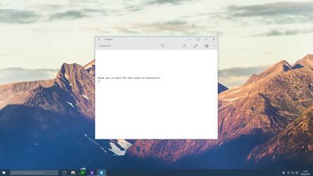 Windows 10 - Notepad
