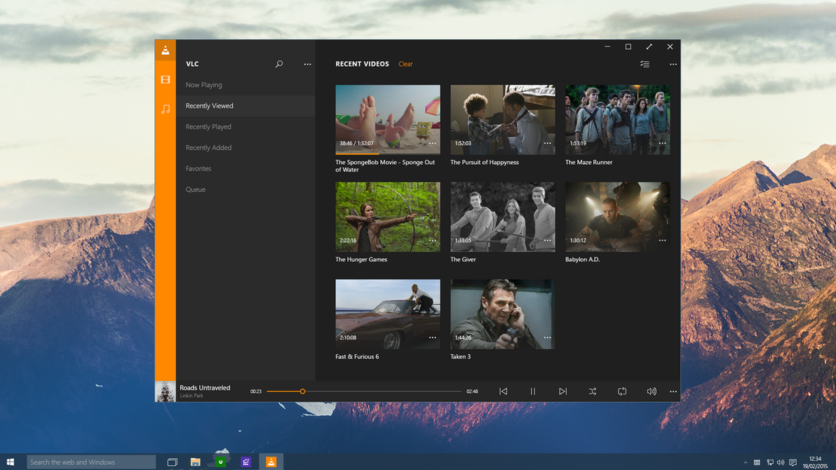 Windows 10 - VLC by Metroversal