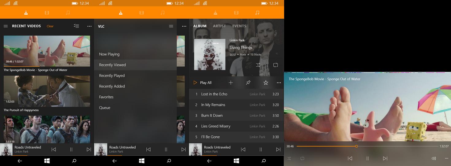 Windows 10 - VLC (phone)