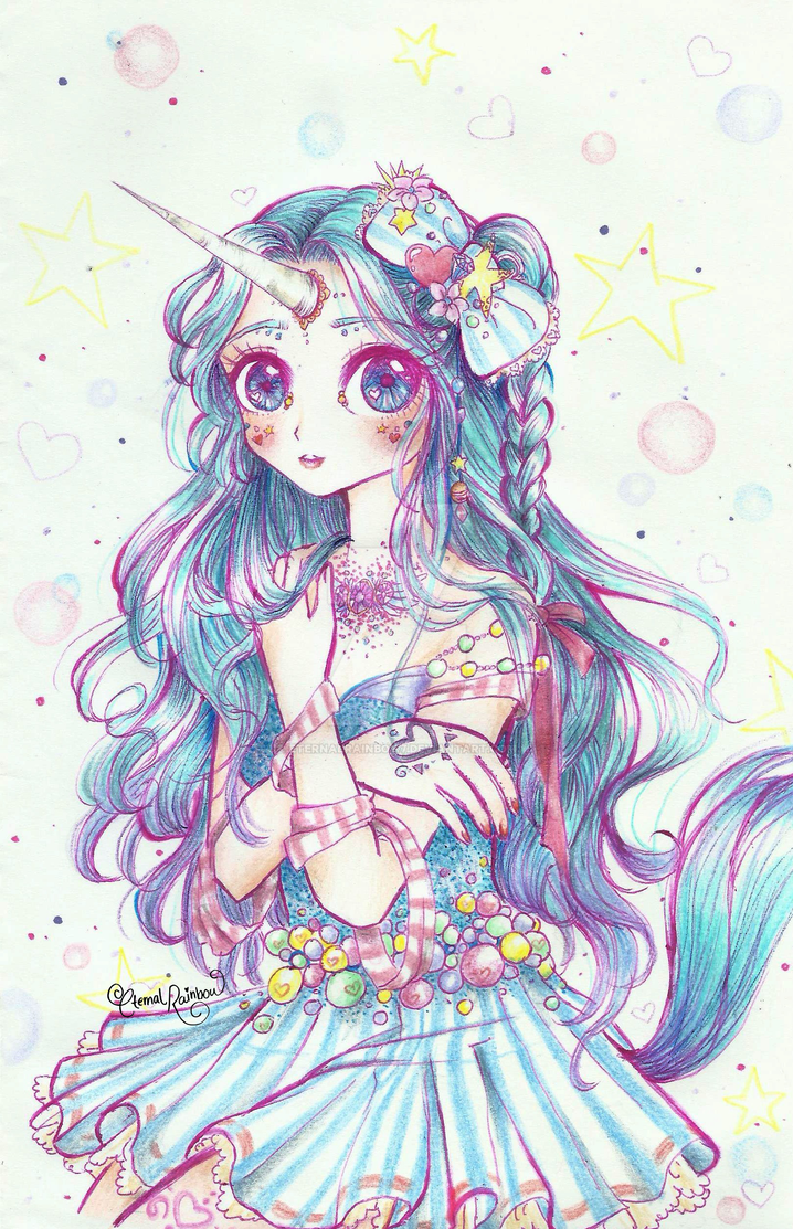 30day magical girl drawing challenge unicorn by eternalrainbow7