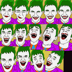 Different joker laughing faces by Jokerfan79