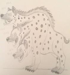 The three headed hyena from hell by Jokerfan79