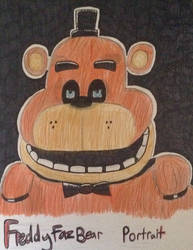 My portrait of Freddy fazbear fnaf by Jokerfan79
