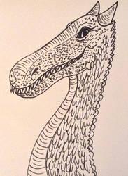 A dragon I drew with a sharpie by Jokerfan79