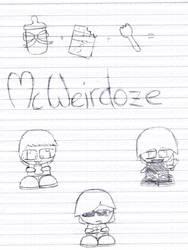 McWeirdoze characters by AOEW
