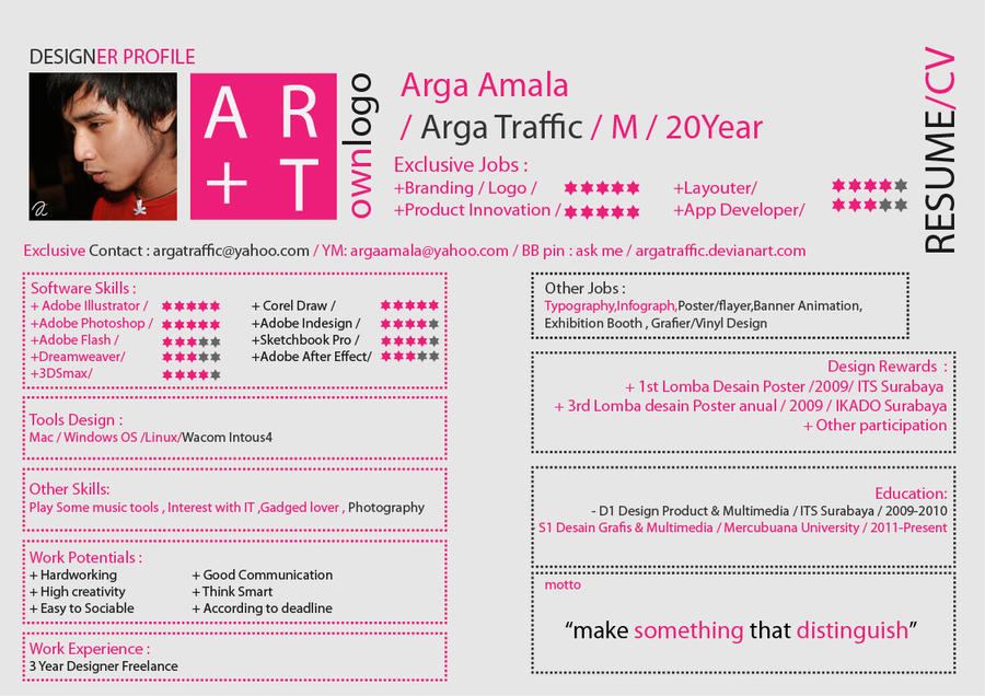 Creative Vitae Or Cv By Argatraffic On Deviantart