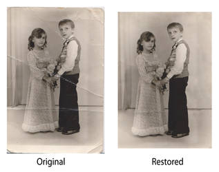 1st attempt at photo restoration