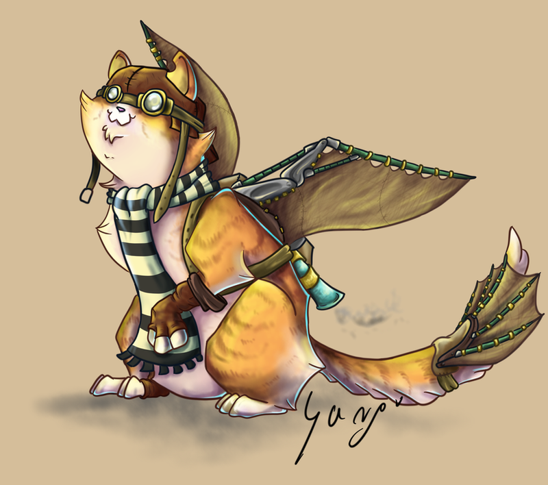 The Cat who wants to fly by FakeGargu