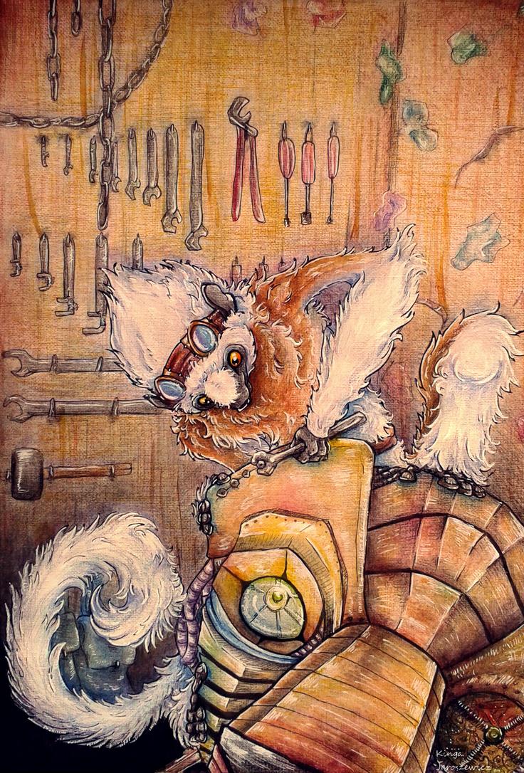 Rufus the sifakas lemur by FakeGargu