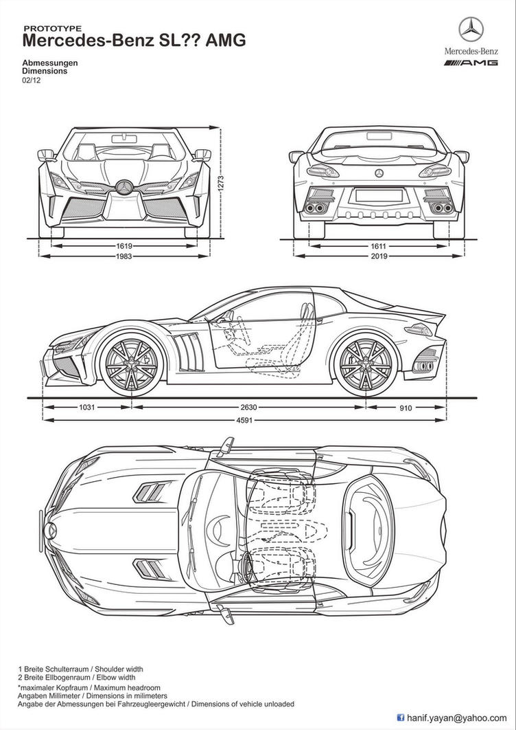 Mercedes benz sl amg concept blueprints by hanif yayan on deviantart amg concept blueprints by hanif yayan malvernweather Gallery