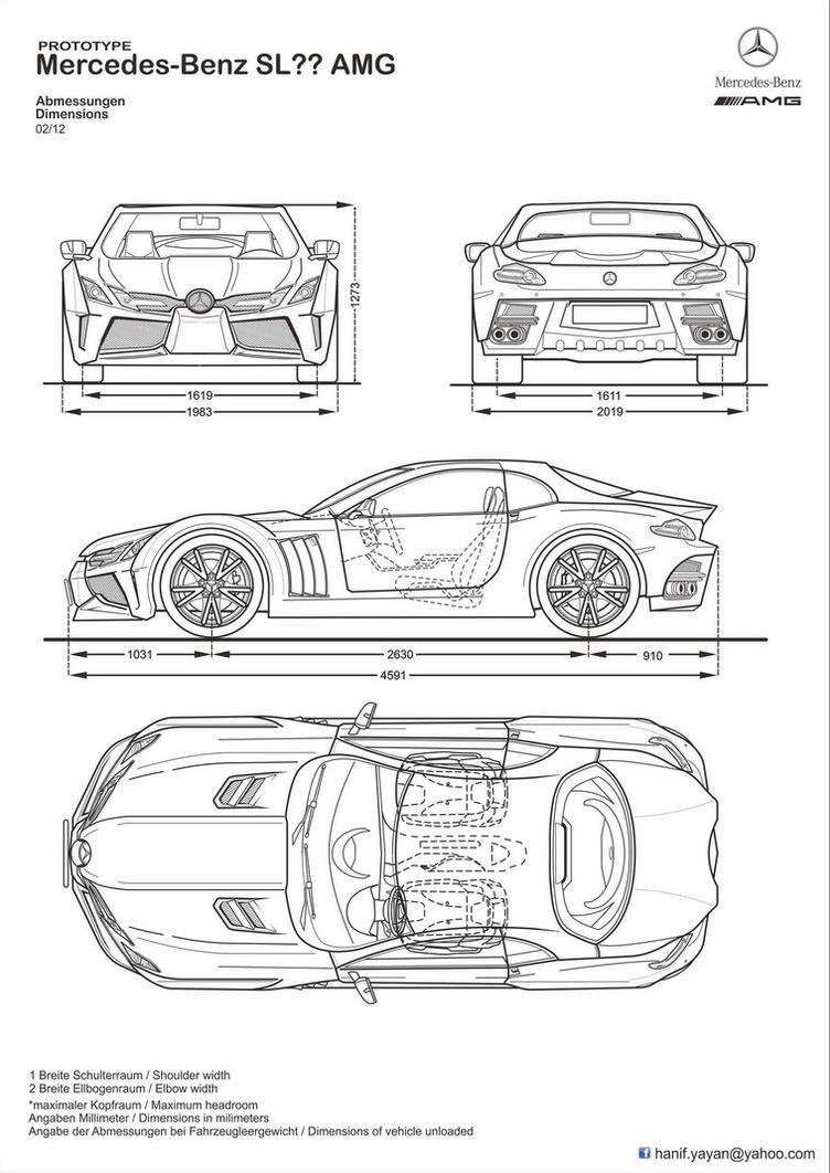 Mercedes-Benz SL? AMG concept Blueprints by hanif-yayan on DeviantArt