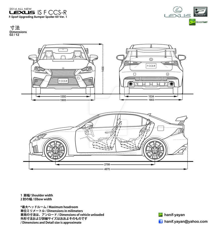 2014 Lexus IS F CCS-R Body Kit Blueprints by hanif-yayan on DeviantArt