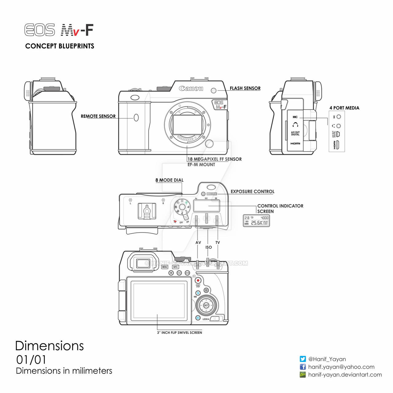 Canon eos mv f concept blueprints by hanif yayan on deviantart canon eos mv f concept blueprints by hanif yayan malvernweather Choice Image