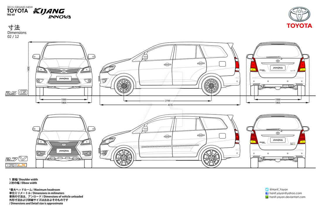 Toyota Innova Body Kit Blueprints by hanif-yayan on DeviantArt