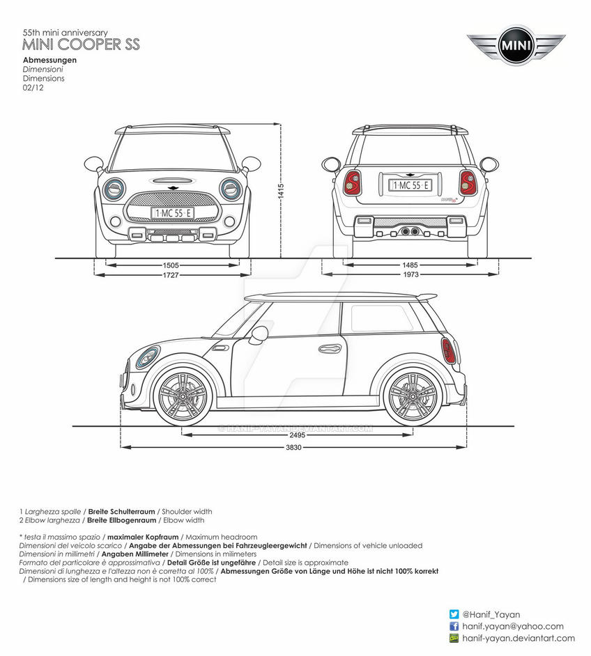 mini cooper ss 55th anniversary blueprint by hanif