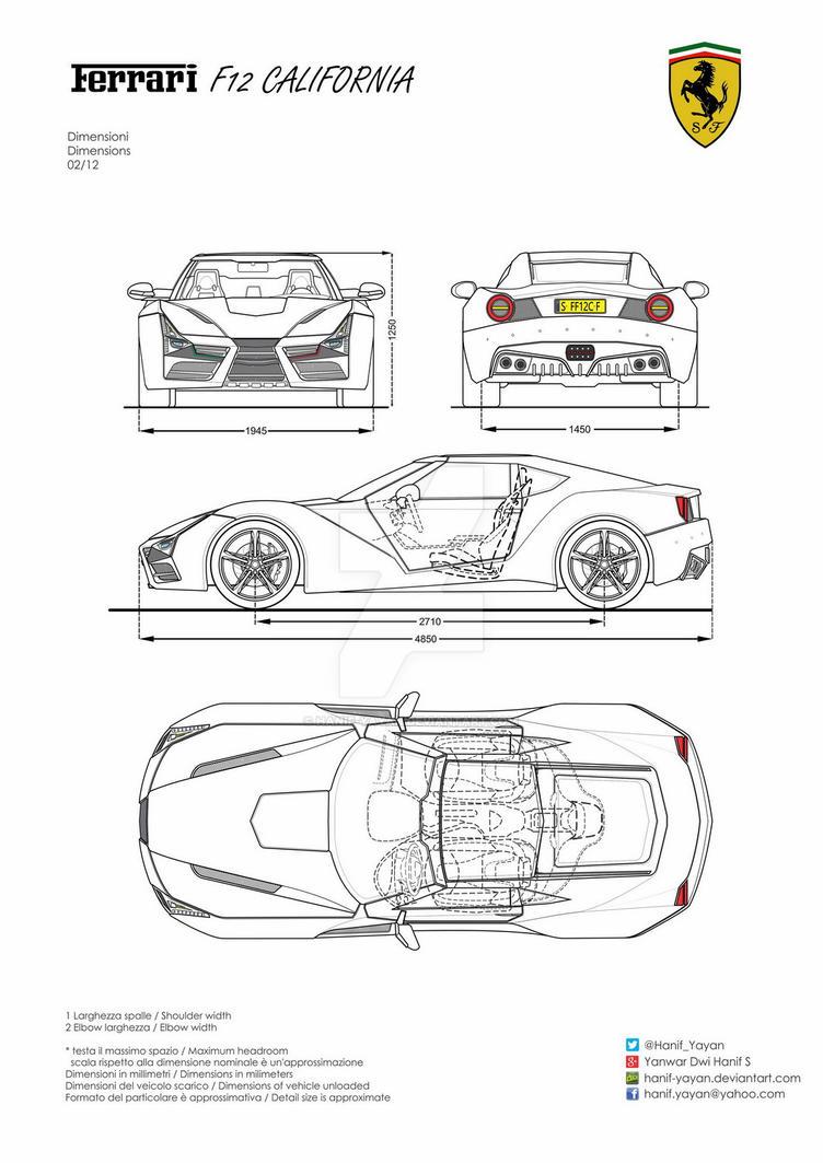 Ferrari F12 California Design Blueprints by hanif-yayan on DeviantArt