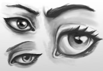 Eye practice by TurboSolid