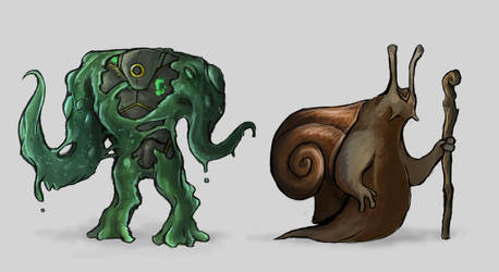 Creature Concepts by TurboSolid
