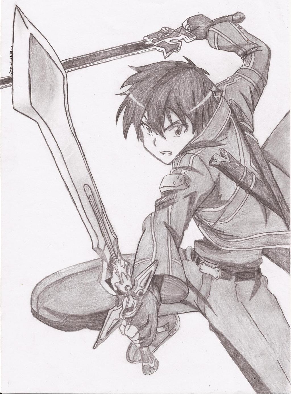 Kirito Kirigaya Kazuto Sword Art Online By Neonne On